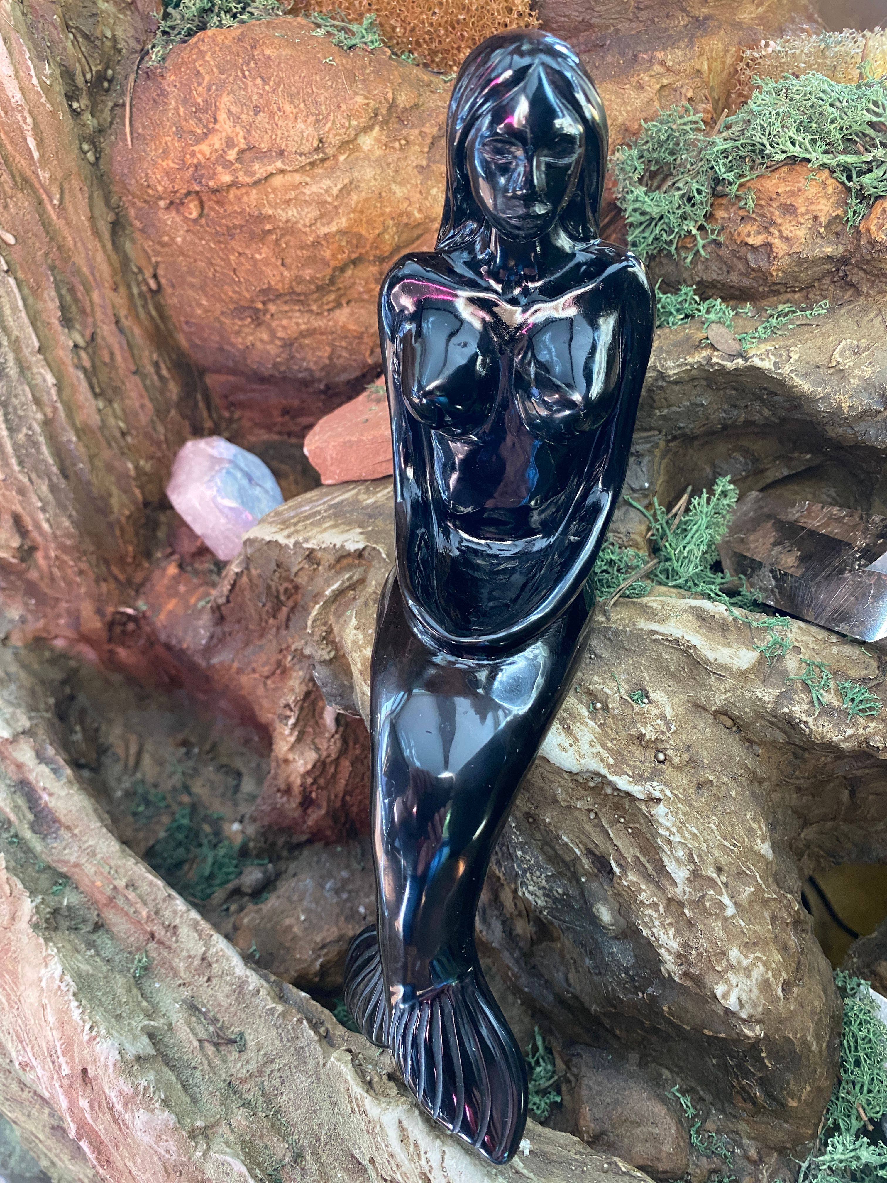 Mermaid - Black Obsidian