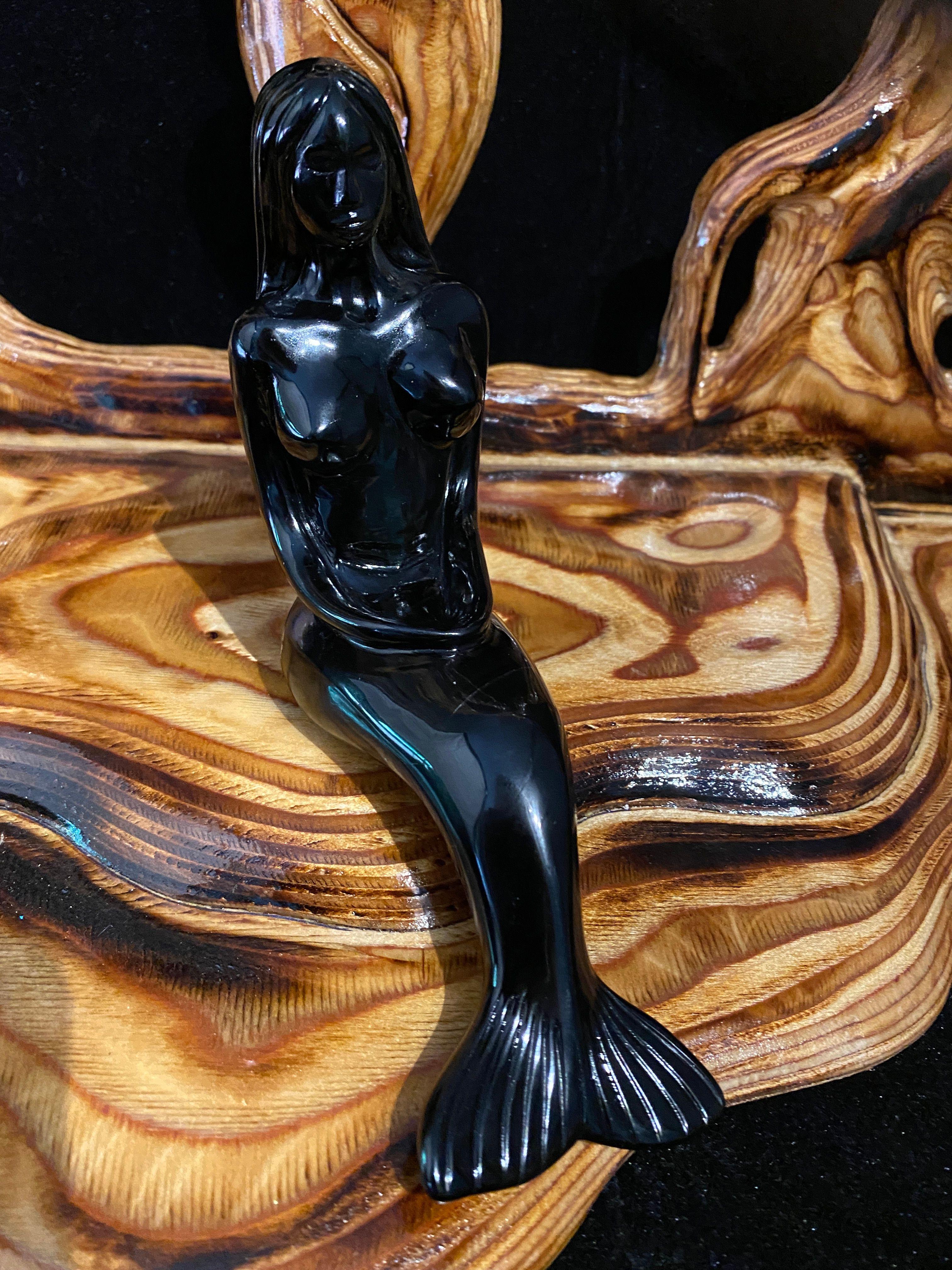 Black Obsidian Mermaid