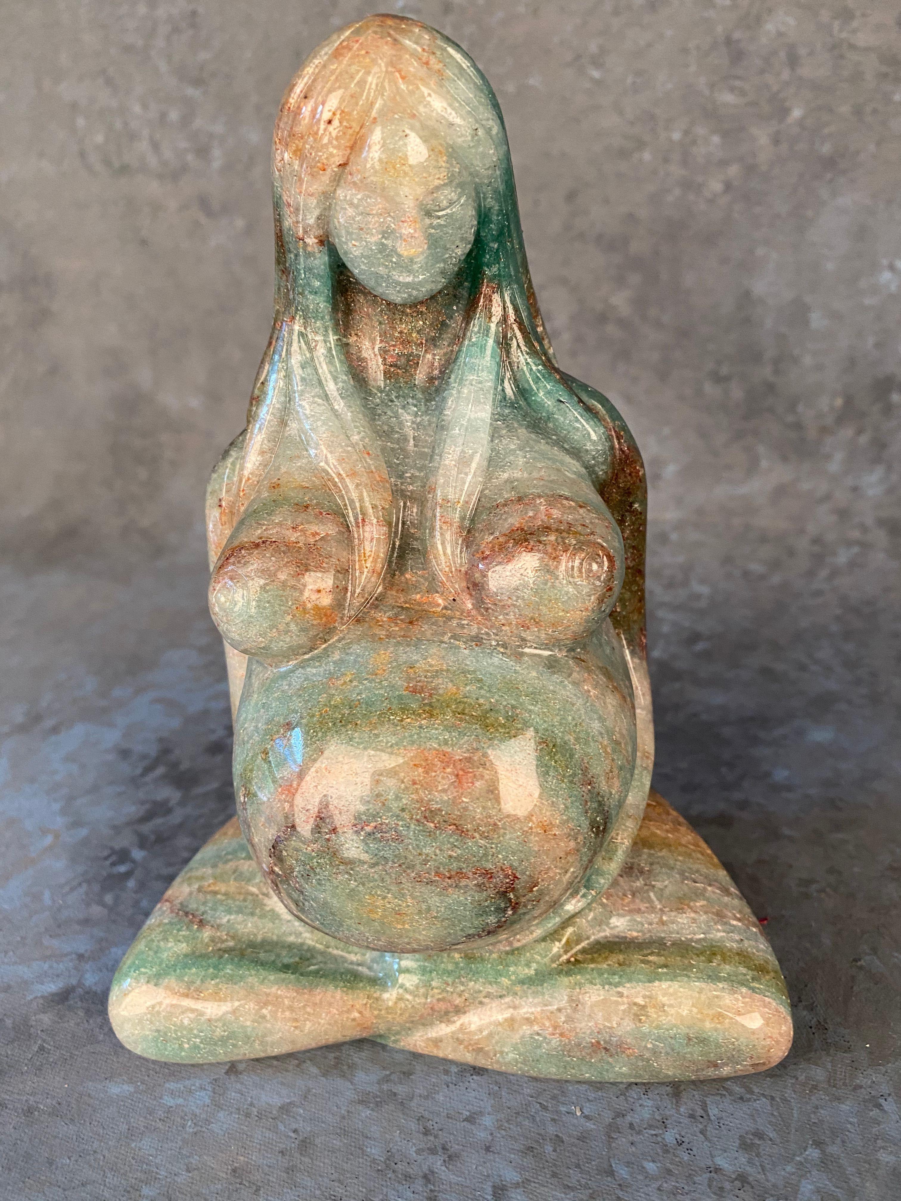 Gaia Earth Mother Goddess - Fuchsinated Aventurine