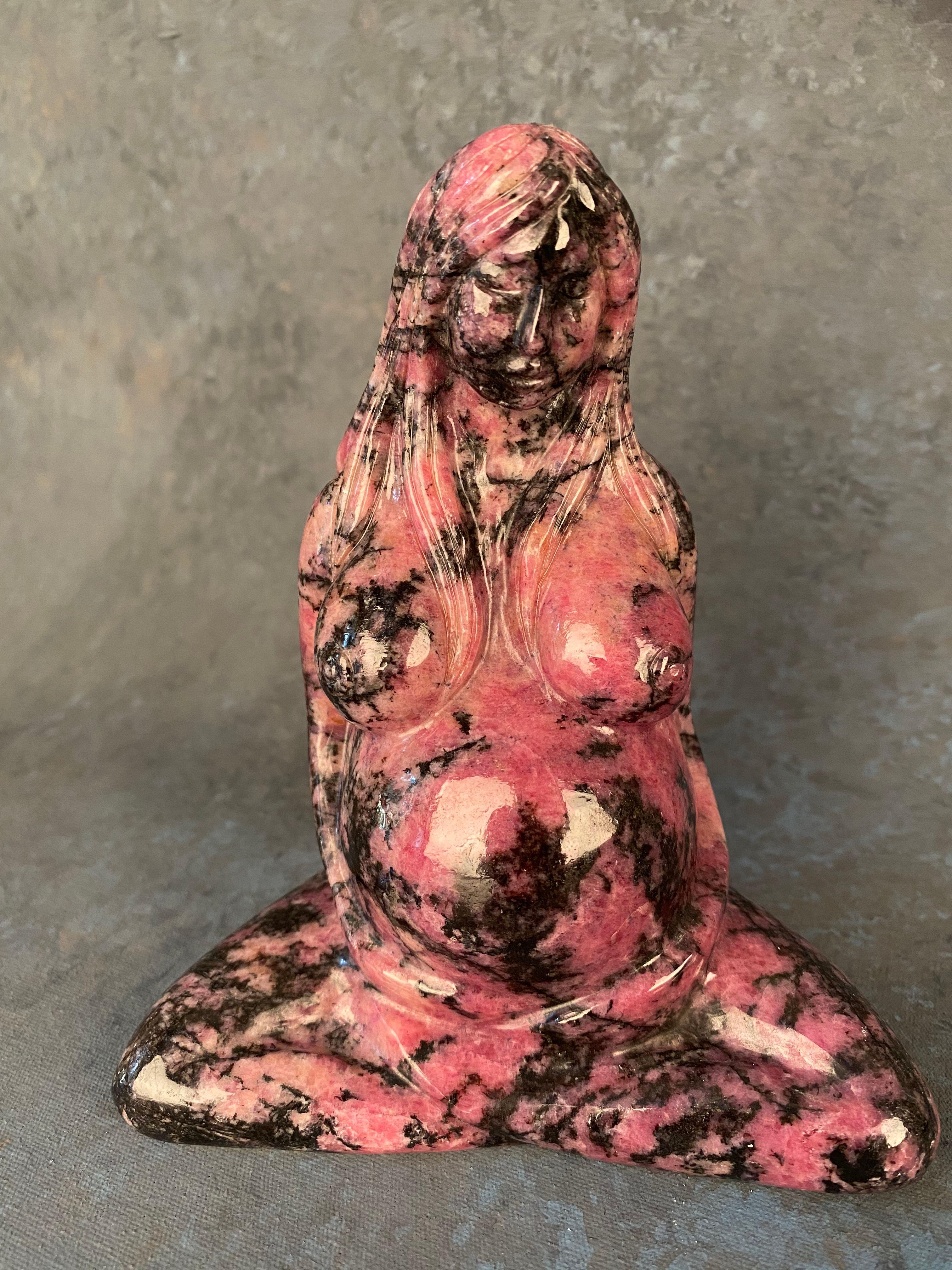 Gaia Earth Mother Goddess - Rhodonite